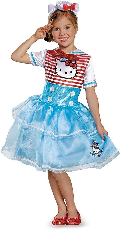 Disguise 88678L Hello Kitty Sailor Deluxe Tutu Costume, Small (46x)