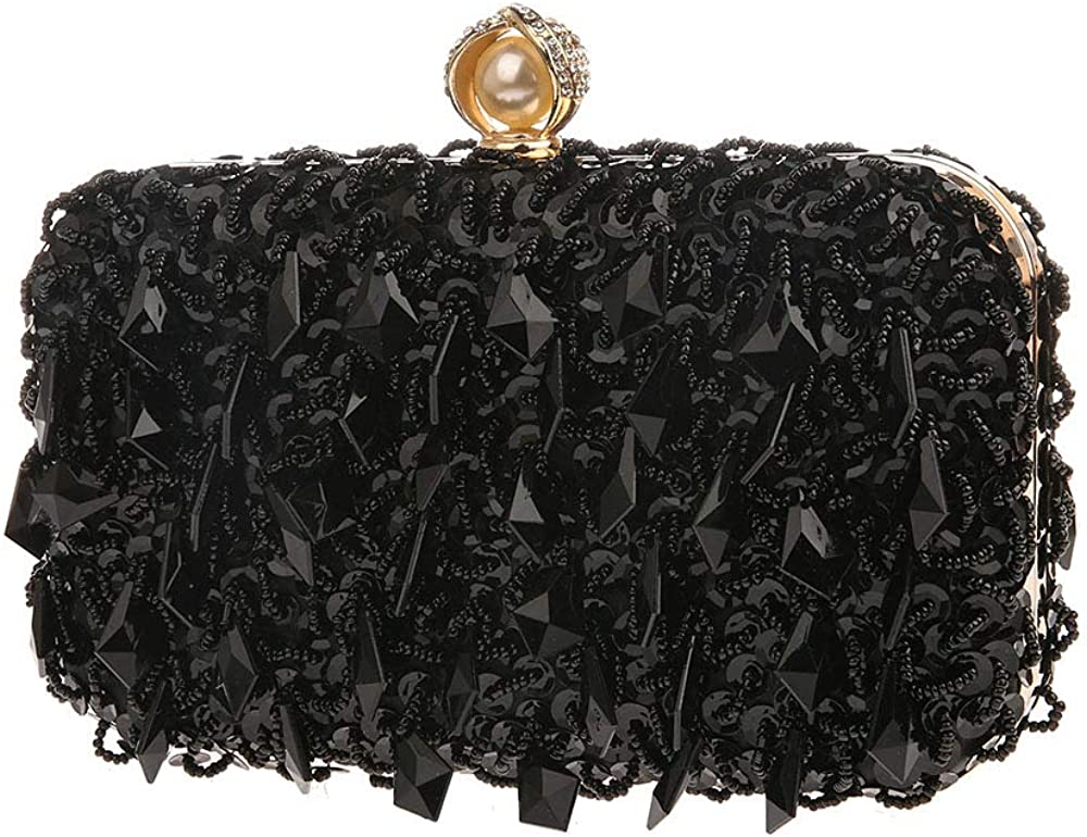 MLACE GoldenWomens Pleated Satin Evening Handbag Clutch Purse with 3D Floral for Wedding Cocktail Party