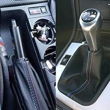 LIJUMN 2 Unids/Set Modificación del Coche Freno De Mano Gaiter/Shift Boot Funda De Cuero Bota para B M W 3 Serie E36 E46 M3
