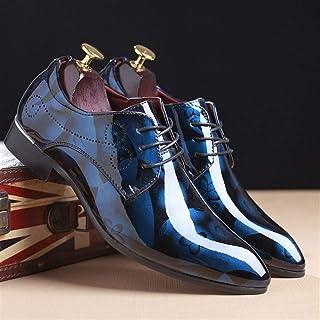 Saiyi Oxford Zapatos de la Boda del Novio de Moda Oficina de Vestir de los Hombres Zapatos del Estampado de Flores Zapatos...