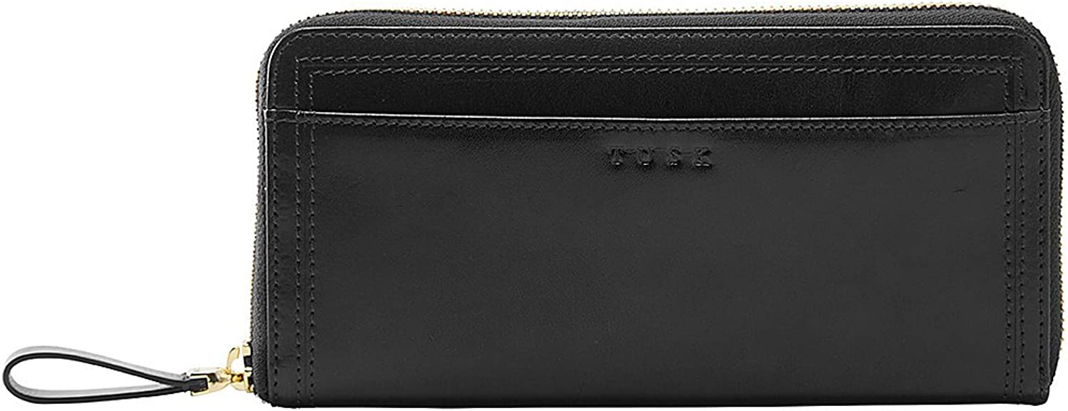 TUSK LTD Single Zip Gusseted Clutch (Black)