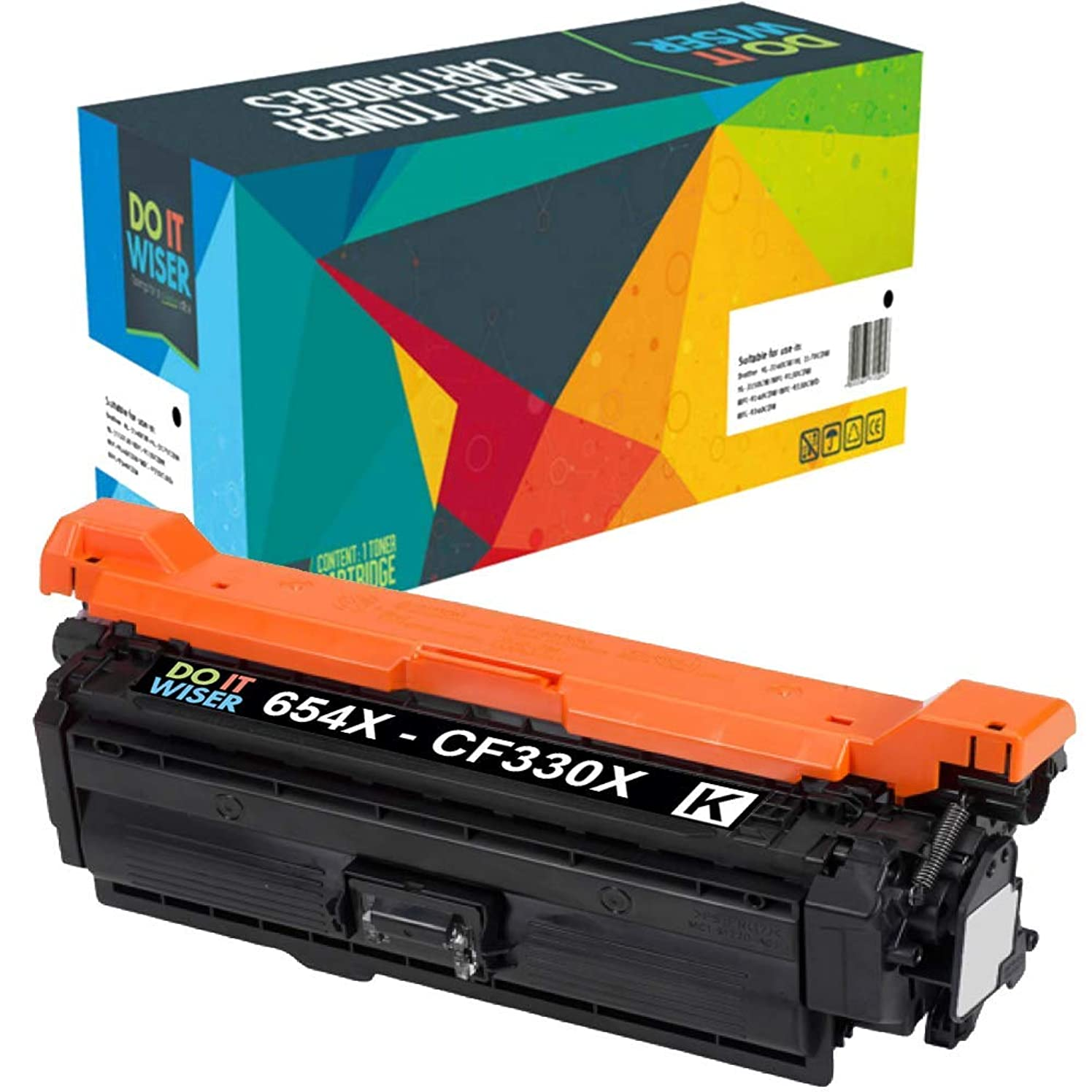 Do it Wiser Compatible Toner Cartridge Replacement for HP 654X CF330X for use in HP LaserJet M651 M651N M651DN M651XH (Black)