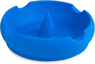 The D'ash Bowl Silicone Ash Tray - Sea Blue Heat Resistant Dishwasher Safe Unbreakable Bendable Non Flammable Cigarette As...