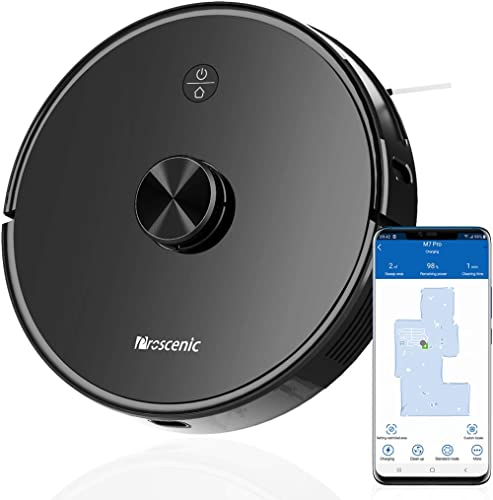 Proscenic M7 PRO Aspirateur Robot, avec Laser Navigation Intelligente, Nettoyeur et Laveur 2 en 1, Connecté Wi-Fi, Co...