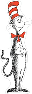 Eureka Dr. Seuss The Cat in the Hat Large Bulletin Board and Classroom Decoration for Teachers, 4pc, 5' Tall