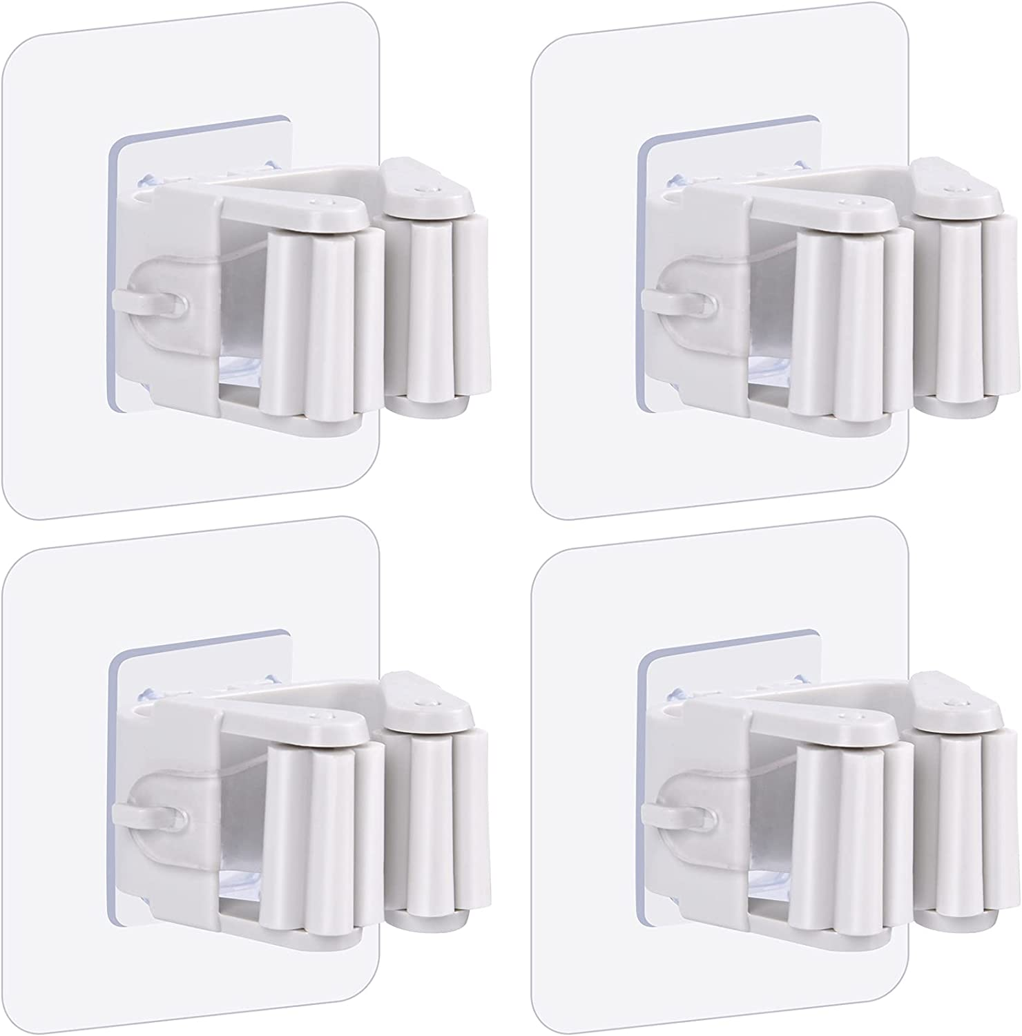 4- Pack Mop Colorado Springs Dallas Mall Mall and Broom Holder Zecval Wall Ho Mount Gripper