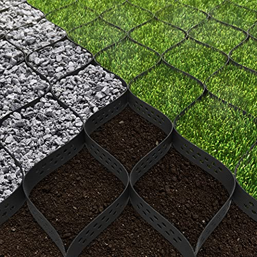 Standartpark 2' Thick Geo Grid Ground Grid Polyethylene 160 sq ft, 1885 LBS per sq ft Strength, for Landscaping, Patios, Walkways