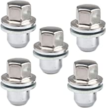 4 PCS RunQiao Replacement Alloy Wheel Nuts Chrome Lug Bolt Stud M12 x 1.5 Thread
