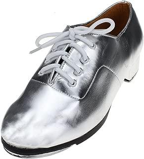MSMAX Adult Lace Up Tap Dance Shoe
