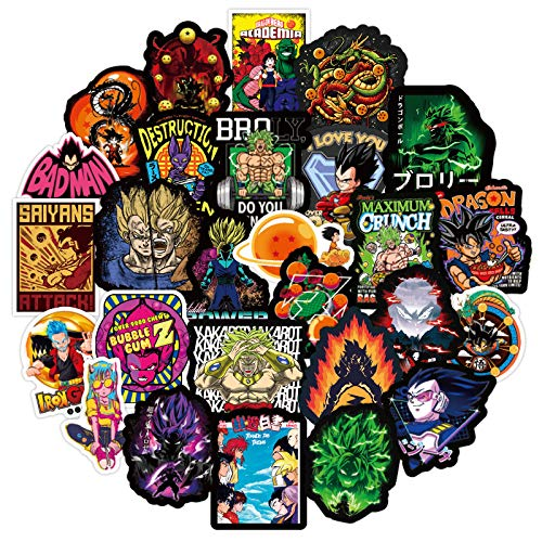 ZXXC 50 Piezas Impermeable extraíble Anime japonés Dragon Ball Pegatina Equipaje Maleta monopatín Cuaderno Graffiti Pegatina