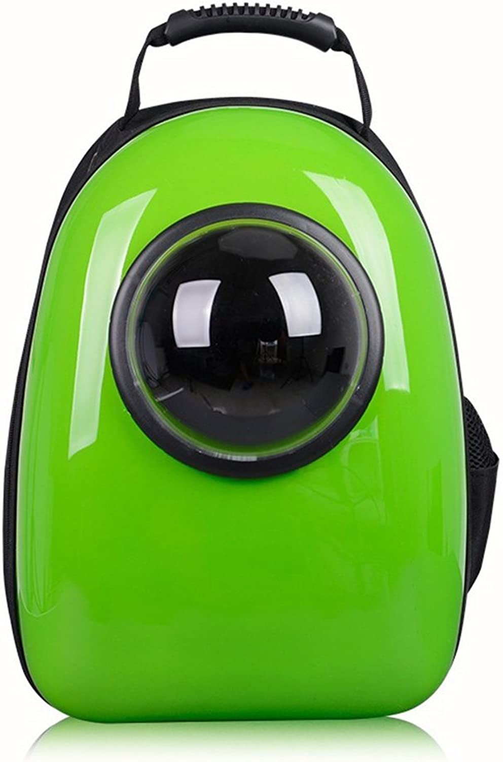 Asdflina Pet Dogs Cats Carriers Pure color Breathable Pet Space Capsule Cat Dog Backpack Breathable Dog Out Portable Portable Bag. Portable For Travelling Shopping (color   Green)