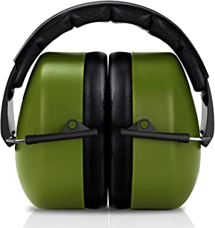 FRiEQ 37 dB NRR Sound Technology Safety Ear Muffs with LRPu Foam for Shooting, Music & Yard Work, Green