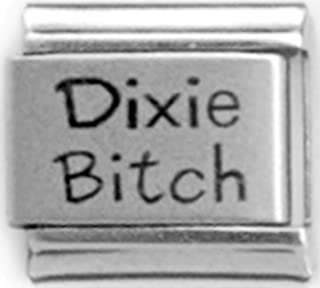 Dixie Bitch Laser Engraved Italian 9mm Link LC225