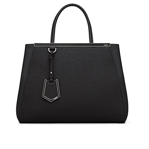 Fendi Women Handbag Regular 2Jours Black Elite Calfskin 36d9c9fecb73e