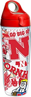 Tervis Ncaa Nebraska Cornhuskers All Over Water Bottle With Lid, 24 oz, Clear