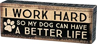 Primitives by Kathy Distressed Box Sign, Work Hard