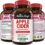 Natures Craft Apple Cider Vinegar Pills – For Weight Loss ACV Capsules Extra Strength Fat Burner...