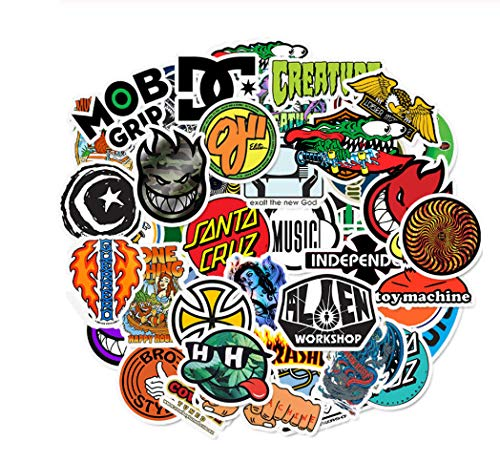votgl Stickers50 PCS Skateboard Mode merk Logo Waterdichte Sticker Voor Bagage Auto Guaitar Skateboard Telefoon Fiets Laptop Stickers