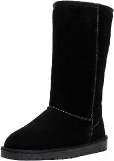 Shenn Comfort Punk - Botas de caña alta para nieve, de ante