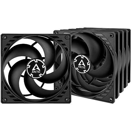 ARCTIC P14 (5 piezas) - 140 mm Ventilador de Caja para CPU, Motor Muy Silencioso, Computadora, 1700 RPM - Negro/Negro
