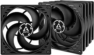 ARCTIC P14 (5 piezas) – 140 mm Ventilador de Caja para CPU, Motor Muy Silencioso, Computadora, 1700 RPM – Negro/Negro