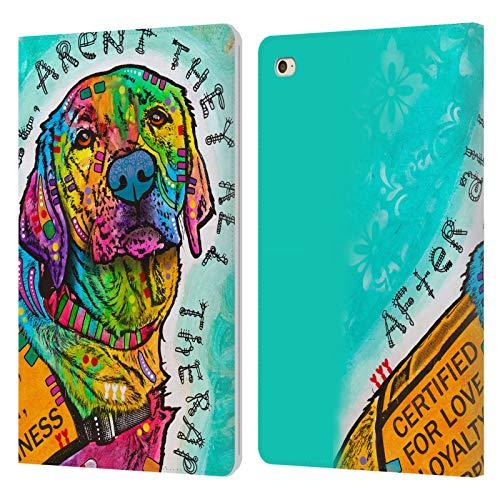Head Case Designs Oficial Dean Russo Certificado por Amor Perros 5 Carcasa de Cuero Tipo Libro Compatible con Apple iPad Mini 4