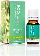 ECO. Natural Sinus Clear Essential Oil Blend, Lemongrass & Lime, 0.3 oz