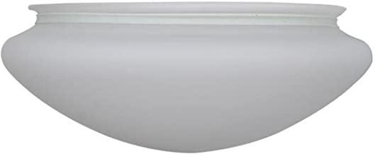 Hampton Bay Hugger 52 in. Brushed Nickel Ceiling Fan Replacement Frosted Glass Part