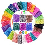 15000+ Loom Rubber Band Refill Kit in 31 Colors, Bracelet Making Kit for Kids Weaving DIY Crafting Gift, with 13500 Loom Bands,500 Clips,15 Charms, 6 Crochet Hooks,2 Y Looms