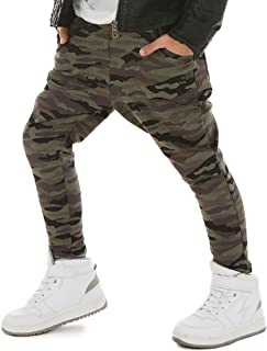 UK STOCK Toddler Kids Boy Casual Sports Army Camouflage Trousers Long Pants Jean