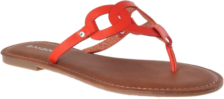 BAMBOO Womens Warner Lizard Print Detail Flip Flop Sandals