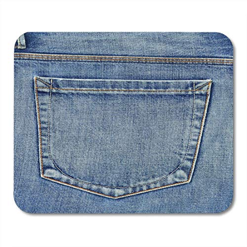 AOHOT Mauspads Blue Country Empty Back Pocket of Jeans Denim Western Abstract Canvas Mouse pad 9.5