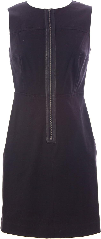 Sinclaire 10 Women's Zip Front Tyler Sheath Dress 2 Black