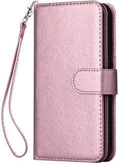 Positive Cover Compatible with iPhone 11, pink PU Leather Wallet Flip Case for iPhone 11