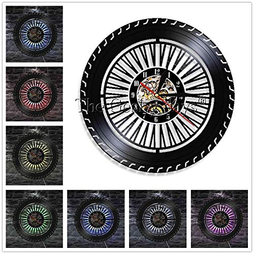 Mechaniker Autoservice Pimp Your Ride Schallplatte Wanduhr LKW Fahren und Autos Reifen Reparatur Dekor Moderne Wanduhr