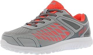 Fila Lightning Strike Boys Athletic Shoes Size US 2.5, Regular Width, Color Grey/Coral