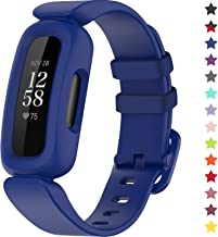 TopPerfekt Bands Compatible with Fitbit Ace 3 for Kids, Soft Silicone Waterproof Bracelet Accessories Sports Watch Strap R...