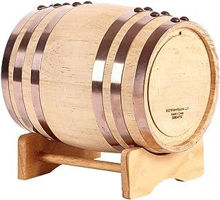 Whiskey barrel, Oak Casks Fermenter White Wine Barrel Beer Barrel Used For Bar Wine Cellar Restaurant Buffet TINGTING (Color : Wood, Size : 5L)