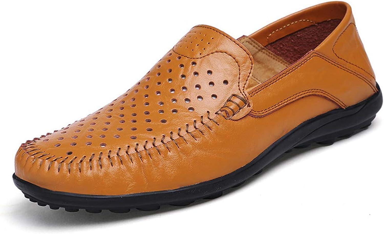 LXYIUN Freizeitschuhe für Herren,Erbsen Schuhe Freizeitschuhe britischer Stil Atmungsaktive Faule Mnnerschuhe lssige Schuhe Freizeitschuhe für Herren,Gelb,46