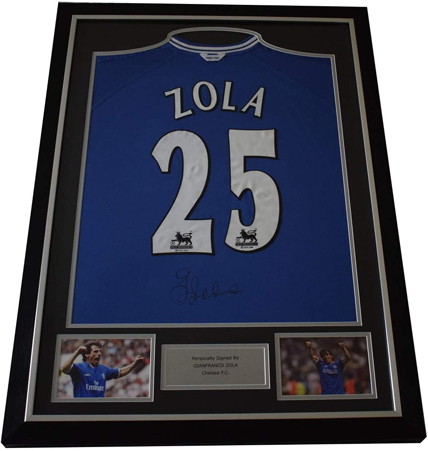 Gianfranco Zola Signed Framed Football Shirt Autograph