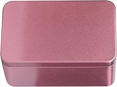 UPKOCH Metal Tin Box Rectangular Empty Box Gift Tin Container with Lid for Tea Candy Candle Jewelry (Red)