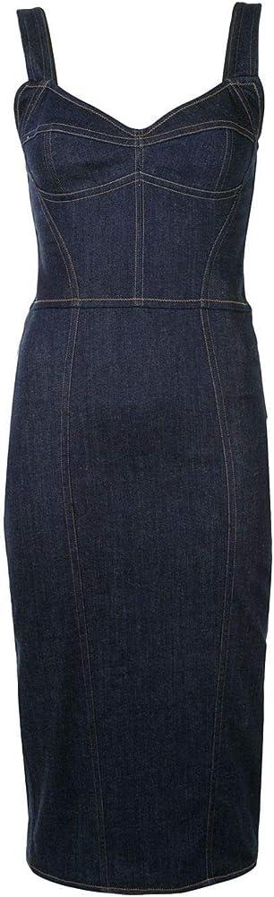 Dolce & gabbana luxury fashion,vestito per donna,in 76% cotone, 24% poliammide F6C3CDG898ZB0665