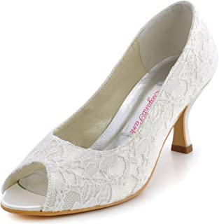 9f18628941 Amazon.com: Ivory - Pumps / Shoes: Clothing, Shoes & Jewelry