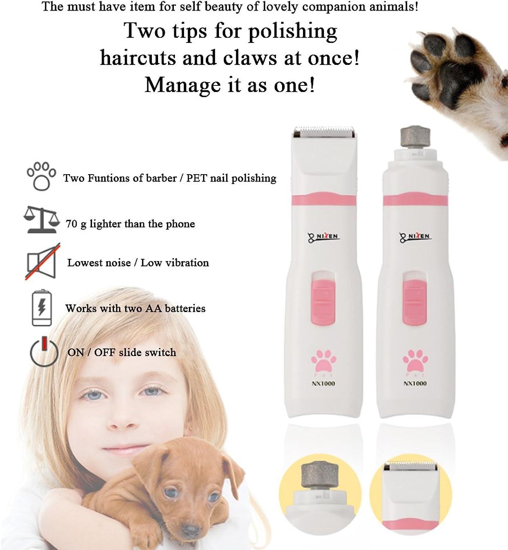 Nixen dog hair clipper NX1000 part haircut + Two functions of nail polishing