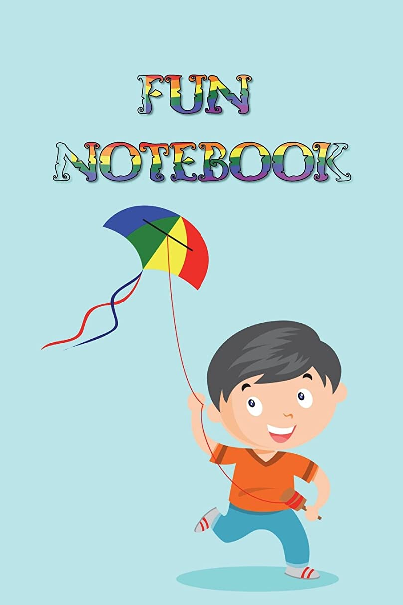 Fun Notebook: Boys Books - Mini Composition Notebook - Ages 6 -12  - Kite Flying