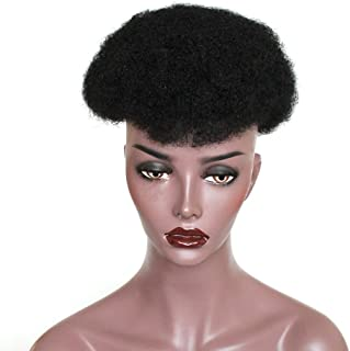 ZigZag Hair Brazilian Human Hair Mens Toupee Afro Curly Short Hair Men's Wig 8x10inch Men's Hair Systems Hairpiece