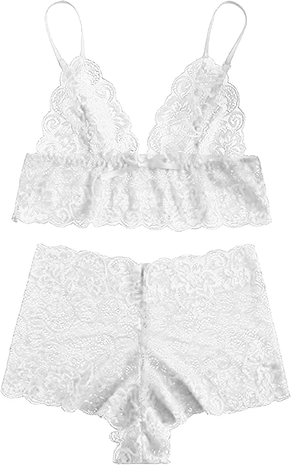 Women Sexy Lace Sales for sale Bra and Sales of SALE items from new works Panty Set F Through Lingerie 2-Piece See