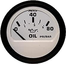 Faria 12902 Euro Oil Pressure Gauge 80 PSI-White, 2