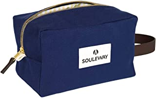 SOULEWAY - Canvas Kultur-Beutel - Kultur-Tasche - Kosmetik-Tasche - Handmade in Germany Blau
