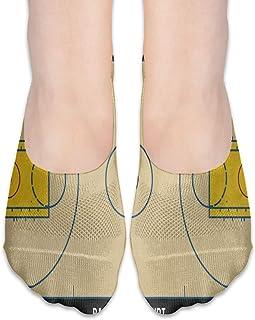 ALPHNJ, Calcetines Cancha de baloncesto norteamericana Calcetines invisibles vintage para mujer de corte bajo para barco Calcetines invisibles para niña
